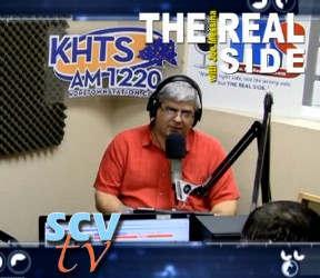 Joe Messina is host of The Real Side, a talk show that is broadcast on KHTS and SCVTV.