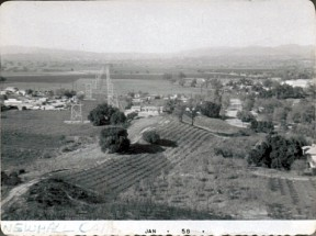 The view from Happy Valley toward the future Valencia in 1958. Click to enlarge.