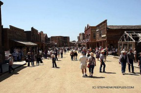 Main Street looks a bit different packed with Cowboy Festival fans, as it did later in April 2010.