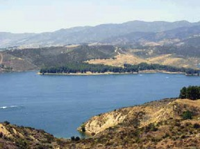 Castaic Lake (a year ago when it was full)