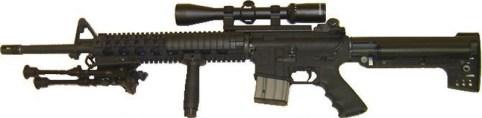 An AR-15 semiautomatic rifle - gun control