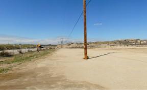 The construction site along Placerita Canyon Road at SR-14.