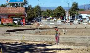 The Newhall roundabout is taking shape next to Hart Park. Click to see more.