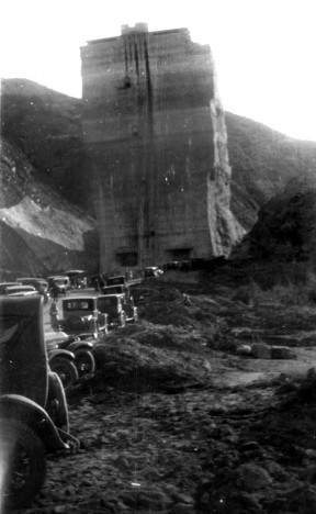 The center section of the St. Francis Dam in Saugus remained standing after the dam collapsed on the night of March 12, 1928, sending hundreds of SCV residents and others to their deaths.