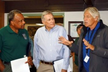From left: State Parks Director Anthony L. Jackson, County Parks Director Russ Guiney, Assistant County Parks Director Hayden Sohm. Photo: Evelyne Vandersande/PCNCA