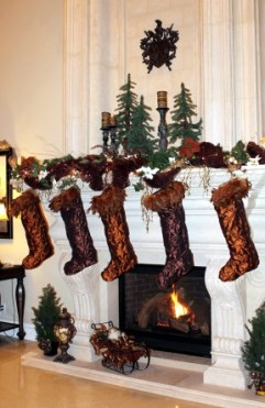 The stockings were hung by the chimney with care at Ellen and John McDonald's house.