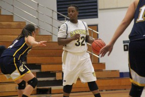 Keiona Mathews scored a COC-record 45 points in the Lady Cougars conference opener.