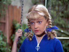 "Olsen as Cindy on ""The Brady Bunch."""