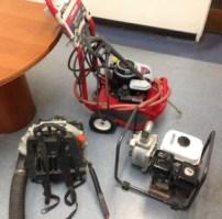 Gardening equipment believed to have been stolen from CalArts.