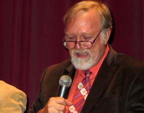 Film historian Hugh Munro Neely leads a panel discussion at the Billy Wilder Theater after the screening. Photo: SCVTV.
