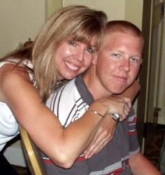 Christi Larsen with son Cole.