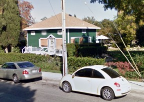 As of Friday, Google still shows a house on the property. It's not really there.