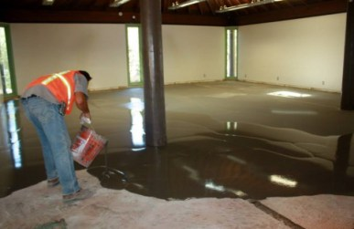 (Photo by Evelyne Vandersande) New concrete floors are being poured this week at the Placerita Nature Center, where the County of Los Angeles is preparing to install brand-new, first-rate interpretive displays. Across town, Darryl's beloved Pico Canyon isn't controlled by L.A. County. It's run by the Mountains Recreation and Conservation Authority, which hasn't performed similar work.
