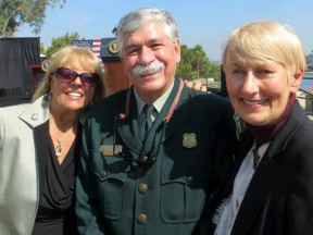 The writer (left) with National Forest Suprvisor Tom Contreras and Santa Clarita Mayor Laurene Weste at Friday's signing ceremony in San Dimas.