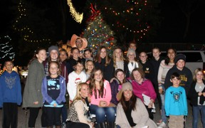 The KHTS 2014 Holiday Light Tour judges pose with residents of Essex Place, named the 2014 Most Spectacular Street in Santa Clarita.
