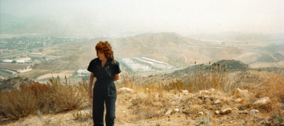 Connie Worden-Roberts in 1992, where the cross-valley connector would later go.
