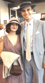 Guests Charles Epting and Hadley McGregor of Huntington Beach arrived in vintage dress. Photo by Michele E. Buttelman