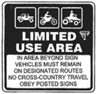 Fig. 3: Limited Use-Designated Routes