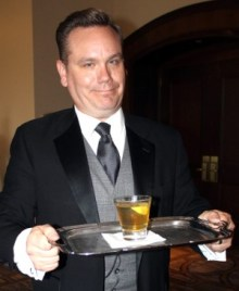 """Celebrity waiter Michael Owston embraces his character, """"The Butler."""""""