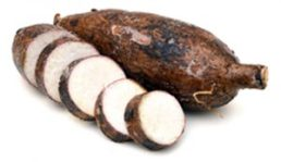 Shown: Cassava (yuca) root, which looks almost identical to yucca root.