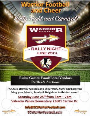 warriror rally night 2016