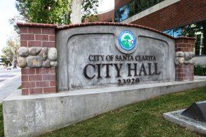 Santa Clarita City Hall monument