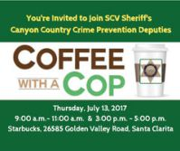 Coffe with a Cop July 13, 2017