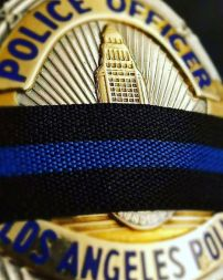 LAPD badge mourning