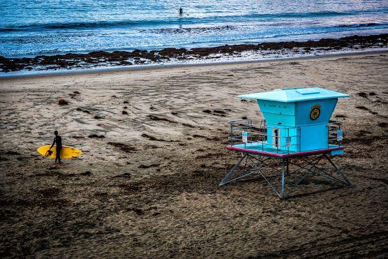 Lifeguard station at a Santa Cruz beach.   Photo: Davide D'Amico/WMC
