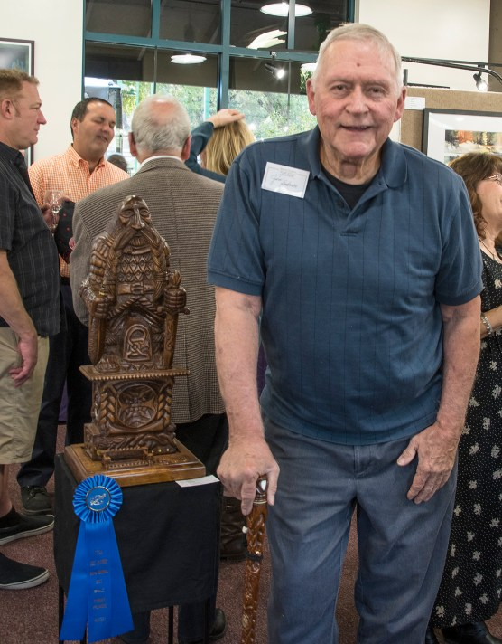 "Jim Bakman won the SCAA 2017 Gold in the Masters Division for ""The Pen is Mightier Than the Sword."""