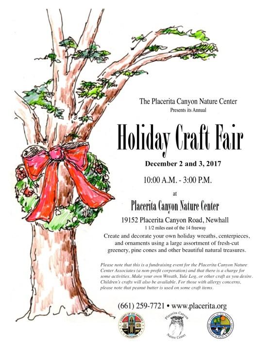 Placerita Canyon Nature Center holiday craft fair 2017