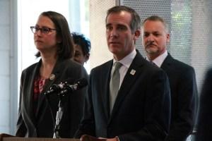 Mayor Eric Garcetti, Los Angeles, Feb. 26, 2018. Photo: Nathan Solis, Courthouse News