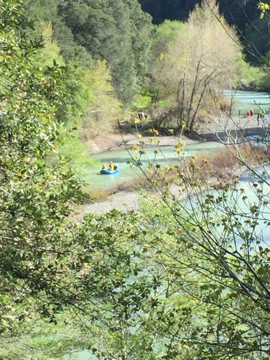 Eel River in Northern California, where authorities are searching for a missing vehicle thought to belong to the Thottapilly family of Valencia, California, missing since April 5.   Photo: CHP-Garberville.