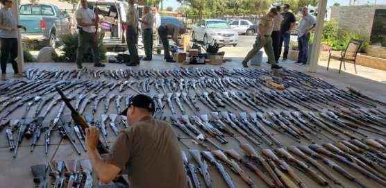 Firearms Seized in Agua Dulce