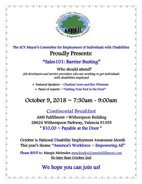 SCV Mayor's Committee for Employment of Individuals with Disabilities