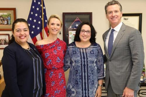Governor Gavin Newsom, First Partner Jennifer Siebel Newsom and Assemblymember Wendy Carrillo meet with U.S. Ambassador to El Salvador Jean Manes. Photo credit: Eduardo Ezequiel.
