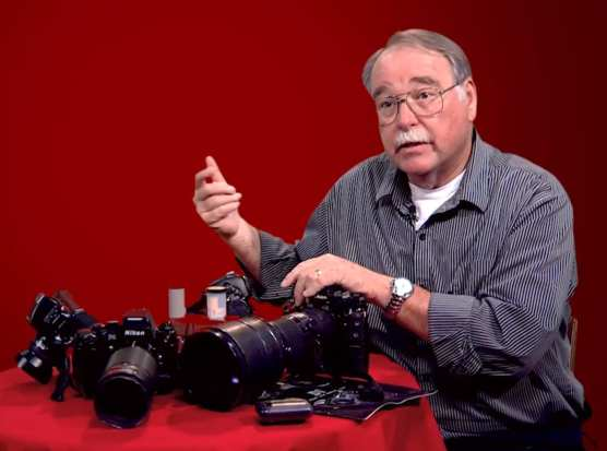"Dan Watson, Signal photographer, describes some of the camera gear he has used over the years to document events in the Santa Clarita Valley. | Screen cap from February 2019 SCVTV ""Signal 100"" video documentary."