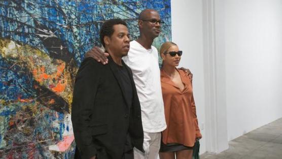 Jay-Z, Mark Bradford and Beyonce.