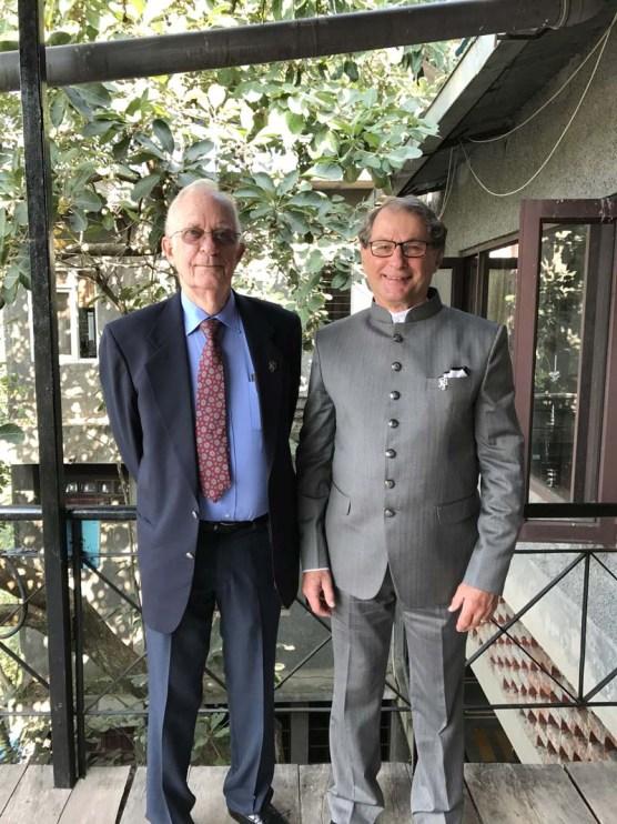 Carl Boyer and Robert Geiman at Pinegrove School, India, October 2017.