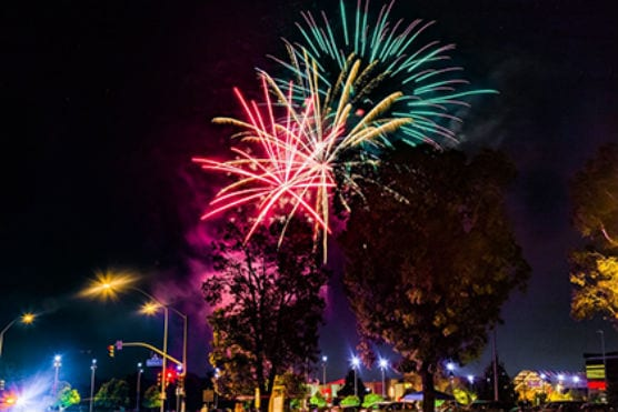 fireworks show of patriotism