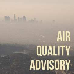 wednesday air quality advisory