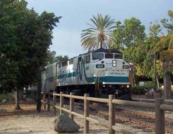 Metrolink train on the Antelope Valley Line.