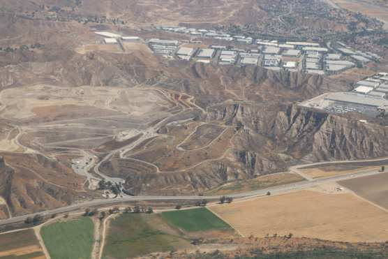 An aerial view of the Chiquita Canyon landfill west of Santa Clarita on June 14, 2018. Photo: Stephen K. Peeples.