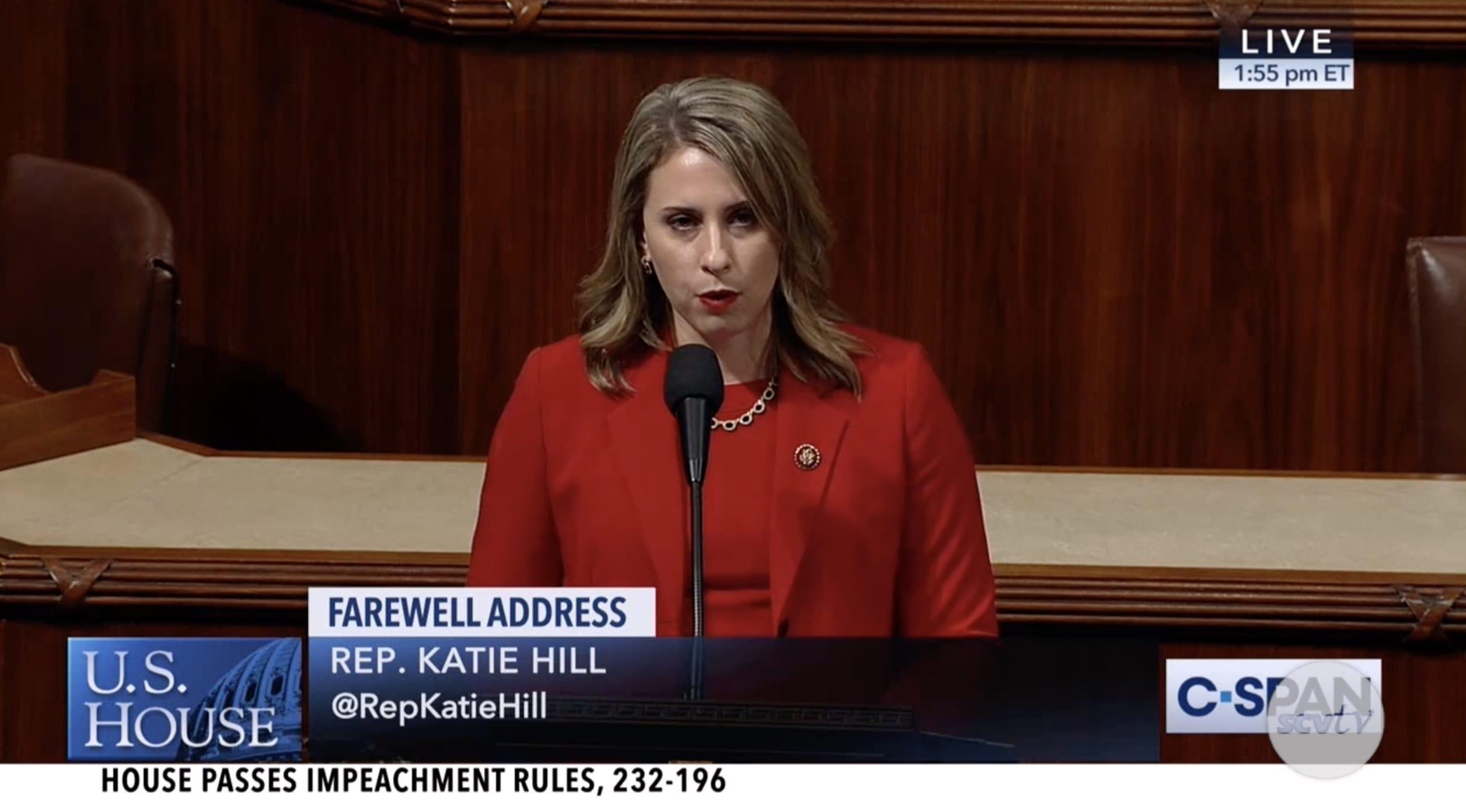 Katie Hill Speech Slams Congress Sexist Double Standard