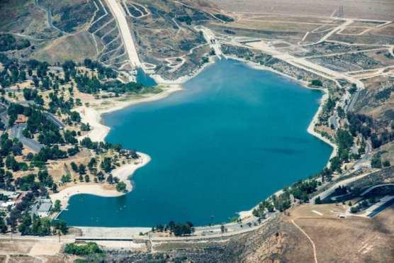 Castaic Lake and Castaic Dam