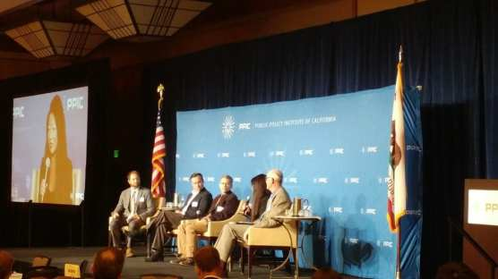A panel discusses the Public Policy Institute of California's water plan in Sacramento on Nov. 5, 2019. | Photo: Nick Cahill / CNS.