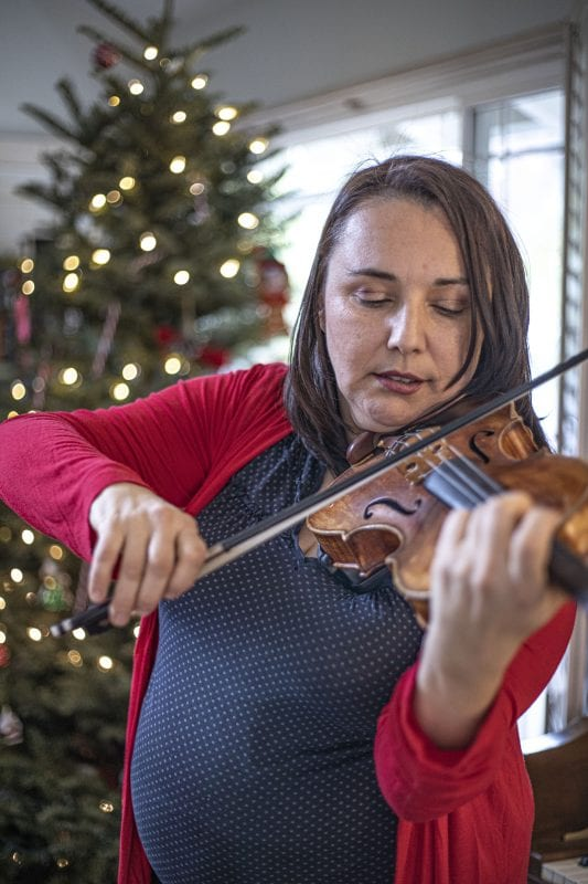 Mihaela King is a concert violinist who is organizing a Feb. 1 benefit concert to help raise money for her son's Cerebral Palsy treatments. | Photo December 21, 2019, by Bobby Block / The Signal.