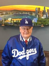 Longtime LA Dodgers fan Gary Condie caught a 2017 World Series game at Dodger Stadium. | Photo: Via Facebook.