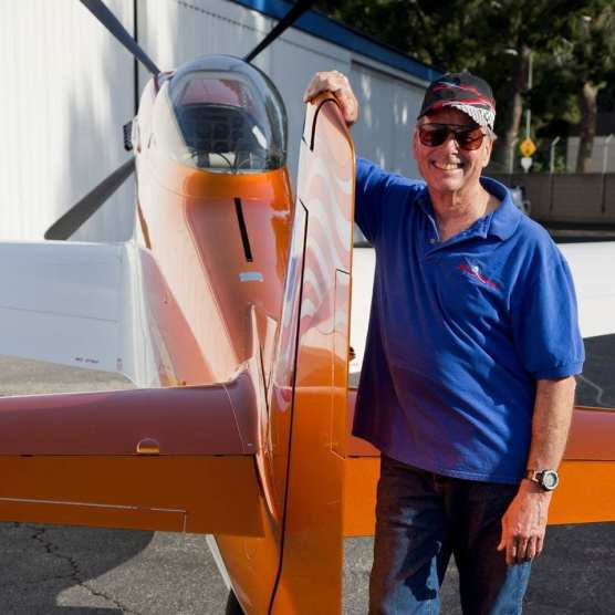 plane crash - Wayne Richards is pictured with his Thunder Mustang, a modern 3/4-scale replica of the P-51 Mustang.   Photo from Facebook.