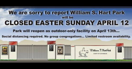 hart park closed easter sunday